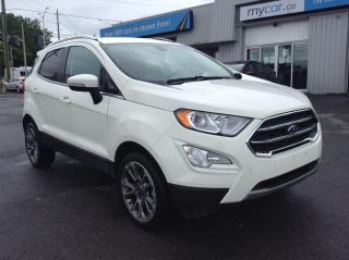 Used 2020 Ford EcoSport Titanium LEATHER, SUNROOF, HEATED SEATS, TOUCH SCREEN!! for sale in Kingston, ON
