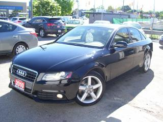 Used 2010 Audi A4 2.0T,AWD,Leather, Sunroof, Fog lights,Certified for sale in Kitchener, ON