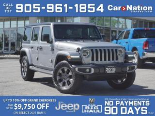 Used 2018 Jeep Wrangler Unlimited Sahara 4x4| LEATHER| NAVI| LOCAL TRADE| for sale in Burlington, ON