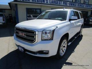 Used 2016 GMC Yukon XL LOADED SLT-EDITION 7 PASSENGER 5.3L - V8.. 4X4.. CAPTAINS.. THIRD ROW.. NAVIGATION.. LEATHER.. HEATED/AC SEATS.. DUAL DVD PLAYER.. POWER SUNROOF.. for sale in Bradford, ON