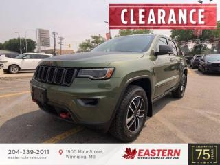 New 2021 Jeep Grand Cherokee Trailhawk   Sunroof   Forward Collision Warning   for sale in Winnipeg, MB