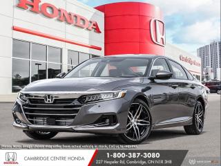 New 2021 Honda Accord Touring 1.5T HONDA SENSING TECHNOLOGIES | APPLE CARPLAY™ & ANDROID AUTO™ | POWER SUNROOF for sale in Cambridge, ON