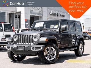 New 2021 Jeep Wrangler Unlimited Sahara 4x4 Heated Leather Seats Nav & Sound Grp for sale in Thornhill, ON