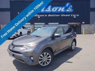 Used 2017 Toyota RAV4 Limited Platinum AWD - Blindspot Monitor, Navigation, Leather, Sunroof, JBL Audio and Much More! for sale in Guelph, ON