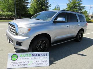 Used 2011 Toyota Sequoia LIMITED 4WD INSPECTED WARRANTY FINANCING BCAA MEMBERSHIP for sale in Surrey, BC