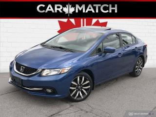 Used 2015 Honda Civic TOURING / LEATHER / NAV / ROOF for sale in Cambridge, ON