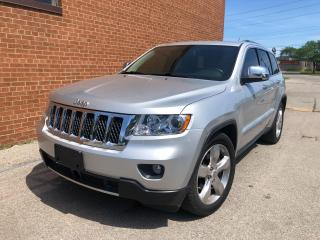 Used 2012 Jeep Grand Cherokee Overland/Leather/navi/camera/sunroof/safety for sale in Oakville, ON