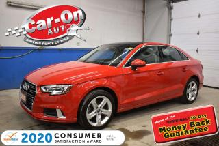 Used 2018 Audi A3 2.0T PREMIUM | FRONT & REAR PARK SENSORS | SUNROOF for sale in Ottawa, ON