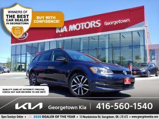 Used 2016 Volkswagen Golf Sportwagen TRENDLINE | CLN CRFX | NAV | PANO ROOF | HTD SEATS for sale in Georgetown, ON