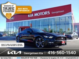 Used 2015 Ford Mustang ECOBOOST PREM| LTHR | NAV| BU CAM | HTD SEATS | BT for sale in Georgetown, ON