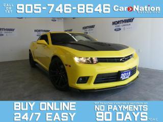 Used 2015 Chevrolet Camaro SS |1LE TRACK PACK | BREMBO |RECARO SEATS | 485WHP for sale in Brantford, ON