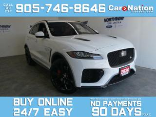 Used 2020 Jaguar F-PACE SVR | AWD | LEATHER | ROOF | 550HP |22