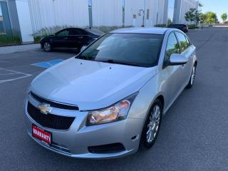 Used 2012 Chevrolet Cruze 4dr Sdn Eco w/1SA for sale in Mississauga, ON