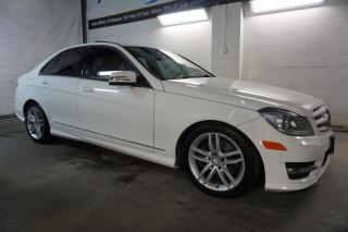 Used 2013 Mercedes-Benz C-Class AWD NAVI CERTIFIED 2YR WARRANTY *1 OWNER* SUNROOF BLUETOOTH HEATED LEATHER for sale in Milton, ON