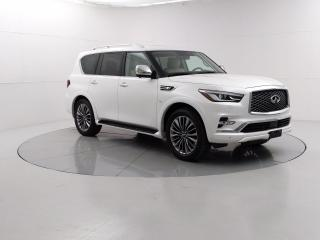 Used 2019 Infiniti QX80 Luxe ProActive  DVD, Remote Start, Semi Autonomous Features for sale in Winnipeg, MB