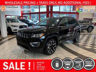 Used 2020 Jeep Compass Limited - No Accident / Nav / Pano Sunroof / No Dealer Fees for sale in Richmond, BC