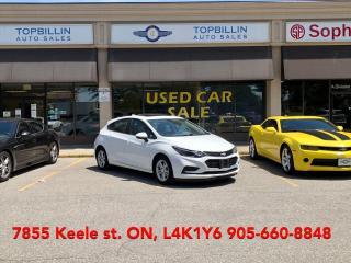 Used 2017 Chevrolet Cruze LT, HB, Sunroof, Apple CarPlay - Navi, B-Cam for sale in Vaughan, ON