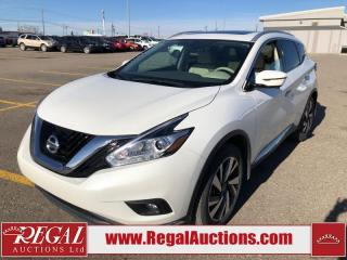 Used 2017 Nissan Murano Platinum 4D Utility AWD 3.5L for sale in Calgary, AB