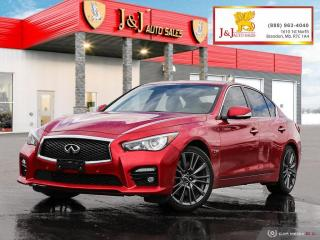 Used 2017 Infiniti Q50 3.0t Red Sport 400 Fully Fully Loaded,AWD for sale in Brandon, MB