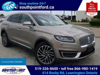 Used 2019 Lincoln Nautilus Reserve RESERVE|AWD|NAV|MOONROOF|HTD & COOLED SEATS|HTD STEERING|HTD REAR SEATS for sale in Leamington, ON