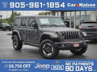 Used 2021 Jeep Wrangler Unlimited Rubicon 4x4| BRAND NEW| LEATHER| NAV| for sale in Burlington, ON