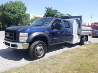 Used 2008 Ford F-550 Dump Truck Crew Cab 4WD 9.5 Foot Dually Diesel for sale in Burnaby, BC