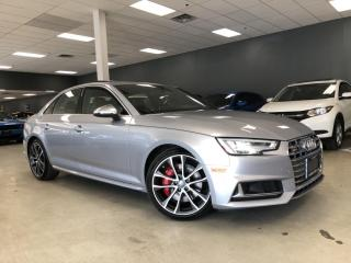 Used 2018 Audi S4 3.0T QUATTRO TECHNIK*RED INTERIOR*FULLY LOADED*ONE for sale in North York, ON