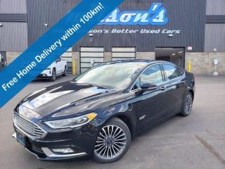 Used 2018 Ford Fusion Energi Titanium, Sunroof, Navigation, Leather, Heated + Cooled Seats, Keyless Entry, Alloy Wheels and more! for sale in Guelph, ON