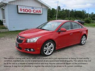Used 2012 Chevrolet Cruze LTZ Turbo w/1SA for sale in North Bay, ON