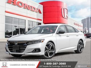 New 2021 Honda Accord Sport 1.5T HONDA SENSING TECHNOLOGIES | APPLE CARPLAY™ & ANDROID AUTO™ | POWER SUNROOF for sale in Cambridge, ON