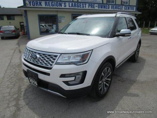 2016 Ford Explorer FOUR-WHEEL DRIVE PLATINUM EDITION 6 PASSENGER 3.5L - ECO-BOOST.. CAPTAINS.. THIRD ROW.. NAVIGATION.. LEATHER.. HEATED/AC SEATS.. POWER PEDALS..