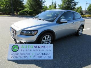 Used 2009 Volvo C30 2.4, AUTO, MOONROOF, INSPECTED, WARRANTY & BCAA MEMBERSHIP, FINANCING! for sale in Surrey, BC