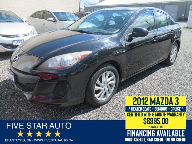 2012 Mazda MAZDA3 SKYACTIVE - Certified w/ 6 Month Warranty
