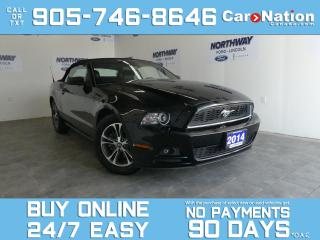 Used 2014 Ford Mustang PREMIUM | CONVERTIBLE | LEATHER | ONLY 69 KM! for sale in Brantford, ON