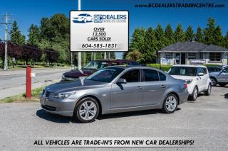 Used 2010 BMW 5 Series 528i xDrive AWD, Local, No Declarations, Navigation, Loaded! for sale in Surrey, BC