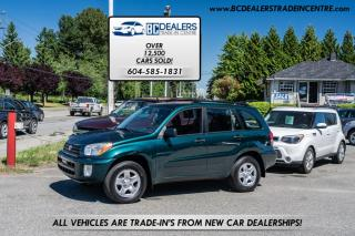 Used 2003 Toyota RAV4 4WD, ONLY 73,466 km's! Local BC, AC, PWR Group, Very Clean! for sale in Surrey, BC