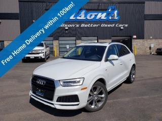 Used 2018 Audi Q3 Technik Quattro S-Line, Navigation, Leather, Sunroof, Rear Camera, Bluetooth, and much more! for sale in Guelph, ON