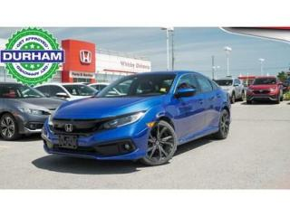 Used 2019 Honda Civic Sport   CVT   Power Moonroof for sale in Whitby, ON