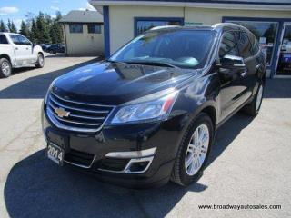 Used 2014 Chevrolet Traverse ALL-WHEEL DRIVE 1-LT EDITION 7 PASSENGER 3.6L - V6.. CAPTAINS.. THIRD ROW.. HEATED SEATS.. BACK-UP CAMERA.. DUAL SUNROOF.. BLUETOOTH.. KEYLESS ENTRY.. for sale in Bradford, ON