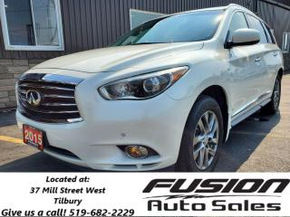 Used 2015 Infiniti QX60 7 PASS-LEATHER-ROOF-NAVIGATION-REAR CAMERA for sale in Tilbury, ON