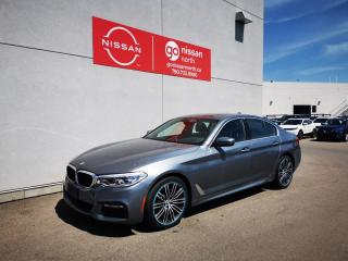 Used 2018 BMW 5 Series XDRIVE/M-SPORT/DRIVERS ASSISTANCE/SUNROOF for sale in Edmonton, AB