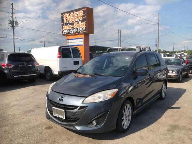 2012 Mazda MAZDA5 GT*LEATHER*ALLOYS*SUNROOF*6 PASSENGER*ONLY 179KMS*
