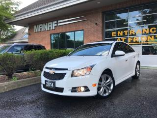Used 2014 Chevrolet Cruze 2LT Sunroof R.Cam  R. Started Heated Seats Certi* for sale in Concord, ON