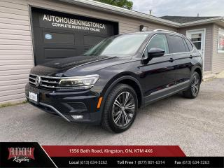 Used 2018 Volkswagen Tiguan Highline New Tires - Orange Leather - Apple Carplay - Android Auto for sale in Kingston, ON
