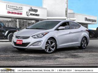 Used 2015 Hyundai Elantra GLS | SUNROOF | BACK-UP CAM | BLUETOOTH for sale in Simcoe, ON
