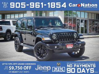 Used 2021 Jeep Wrangler Unlimited High Altitude 4x4| NAV| LEATHER| SKY TOP for sale in Burlington, ON