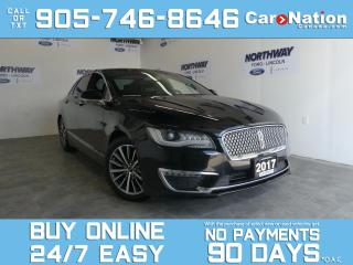 Used 2017 Lincoln MKZ SELECT | AWD | LEATHER | TOUCHSCREEN for sale in Brantford, ON