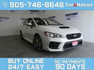 Used 2020 Subaru WRX STI SPORT-TECH | AWD | RECARO | ROOF | NAV | 310HP for sale in Brantford, ON