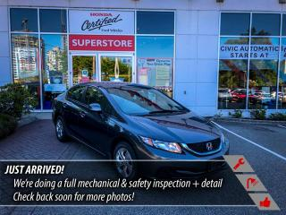Used 2013 Honda Civic Sdn LX Sedan 5-Speed AT for sale in Port Moody, BC