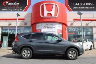 Used 2012 Honda CR-V LX - SELF CERTIFY - for sale in Sudbury, ON